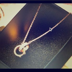 Jewelry - New in!!! Lovers interlocking screw ring necklace